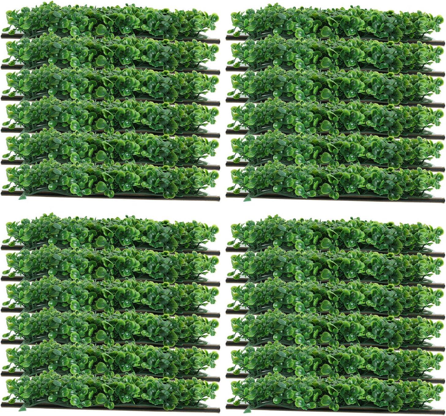 "24PCS 10/""x10/"" Artificial Plants Mat Wall Hedge Decor Privacy Fence Panel Grass"