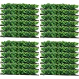 "Yaegoo 24-Pack 10""x10"" Artificial Boxwood Hedge Mat UV Privacy Fence Screen Greenery Panel Outdoor Decor,Garden,Pawn"