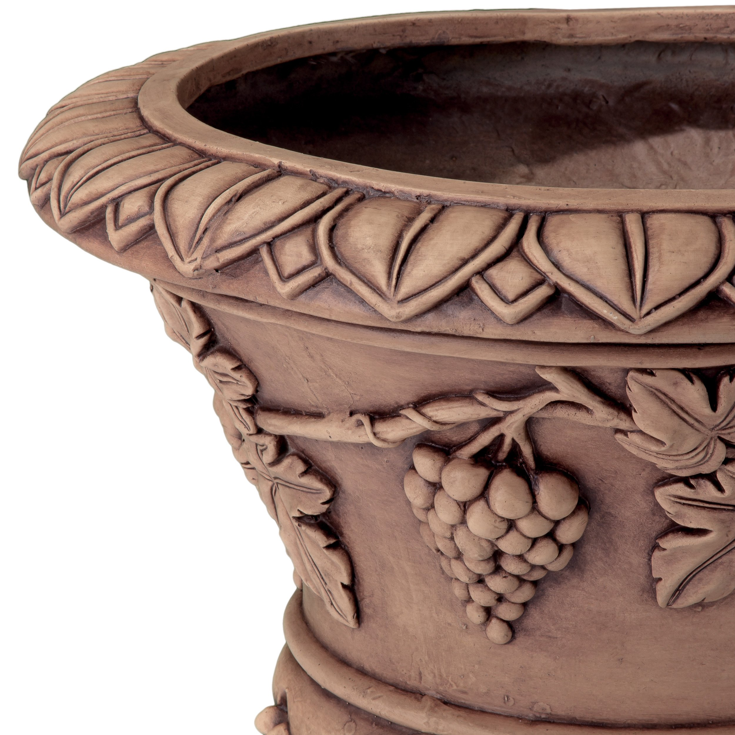 Great Deal Furniture Porta Light Brown Roman Urn Planter by Great Deal Furniture