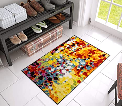 Well Woven VI11 3 Viva Modern Partridge Abstract Dots Bright Accent Rug 2u0027 X