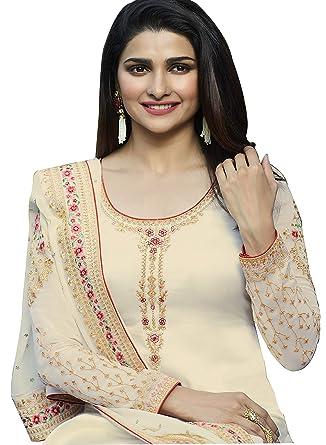 a975e38f17 Takshay Fashion Women's Net Heavy Hand Work Embroidered Semi Stitched Anarkali  Dress for women (Free