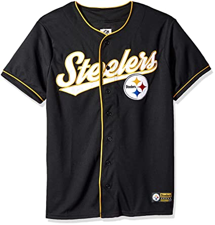 1d9695fe5ab22 Icer Brands NFL Pittsburgh Steelers - Playera de béisbol para Hombre ...