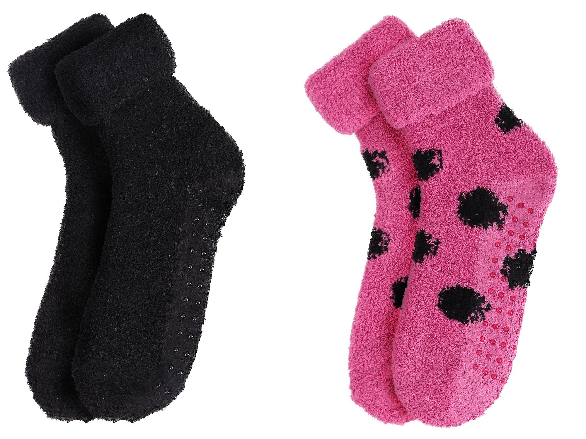 Women's Soft & Furry Thick Winter Non Skid Socks,2Pairs_Style 2