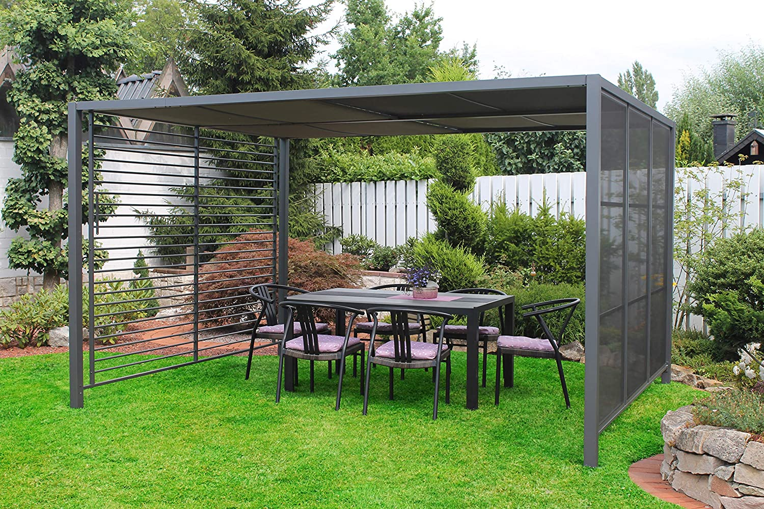Leco Gaby - Pergola, Color Antracita: Amazon.es: Jardín