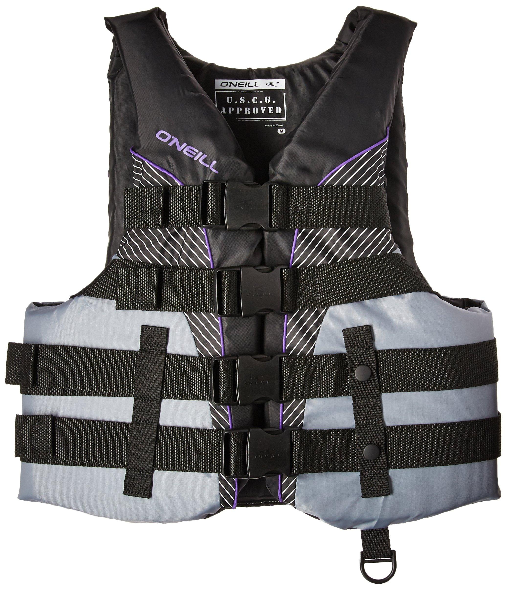 O'Neill   Women's SuperLite USCG Life Vest ,Black/Smoke/Black/UV,Small