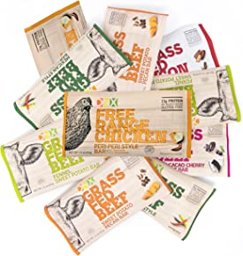 DNX Bar-Sampler Pack - Mixed Flavors of Whole Food Protein Bars, Organic Fruits and Veggies, Gluten Free, Non-GMO, No Dairy, Whole30 Approved- Paleo Friendly - 6 Flavors (10 Bars) …