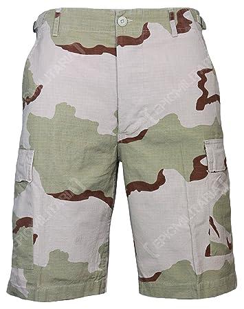 Mil-Tec US BERMUDA R//S CO PREWASH KHAKI Shorts kurze Hose