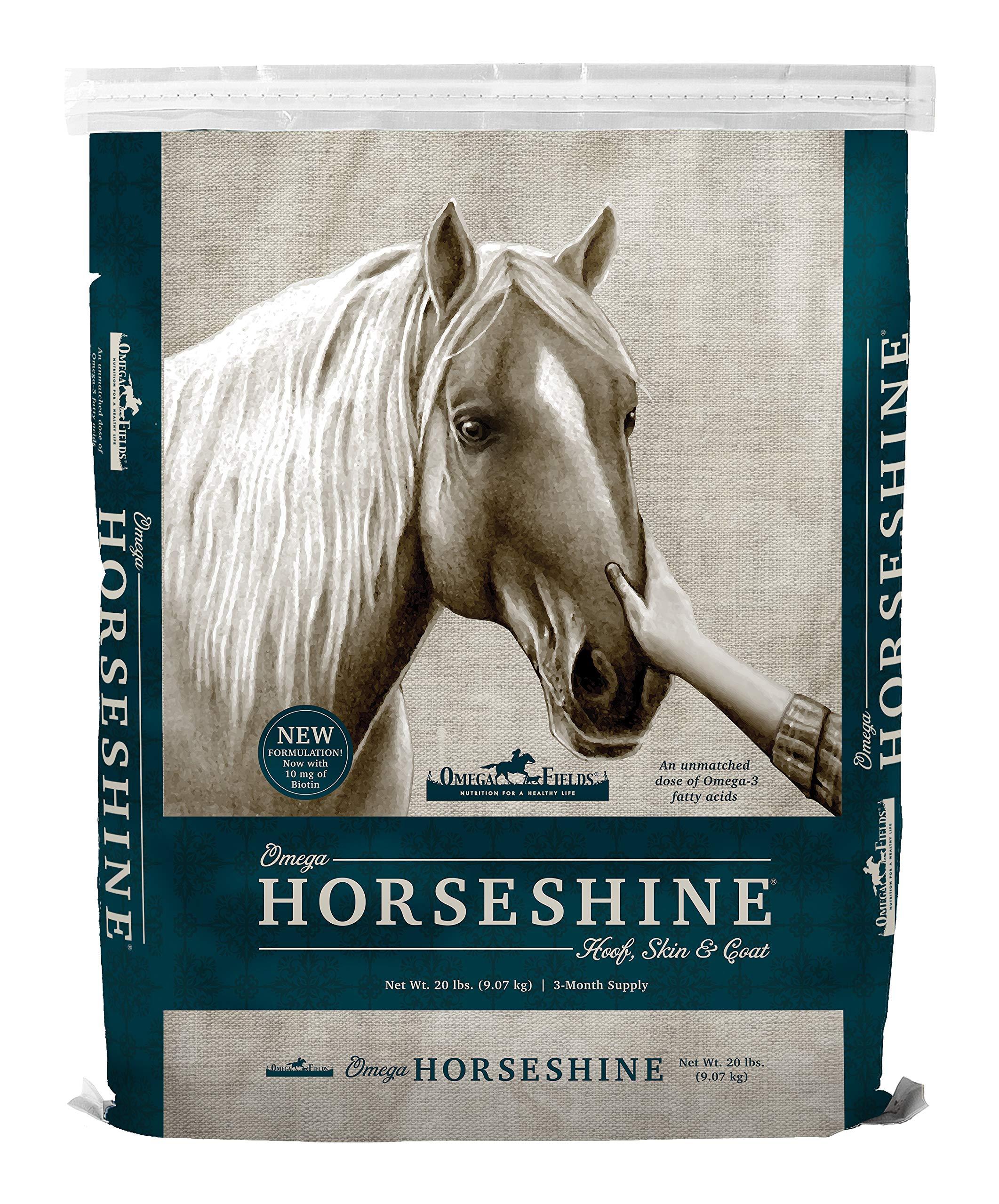 Omega Horseshine The Omega 3 Supplement, Helps Maintain a Shiny Healthy Coat, 20 lb by Omega Horseshine