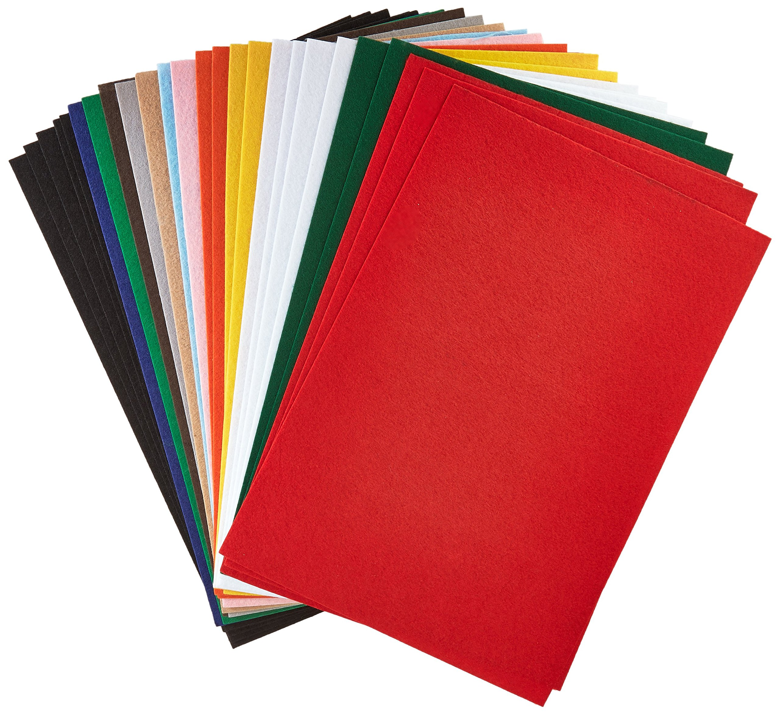 CPE Eazy Felt Solid Stiffened Felt, 12 x 18 Inches, Assorted Color, Pack of 25 by EPC