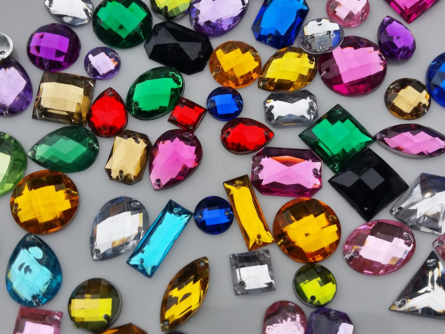 """Heart 30 x Acrylic Beads With /""""Rhinestone/"""" 8mm Mixed Colour"""