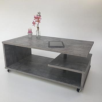 Möbel SD Couchtisch(Timmi) Betonoptik: Amazon.de: Küche & Haushalt
