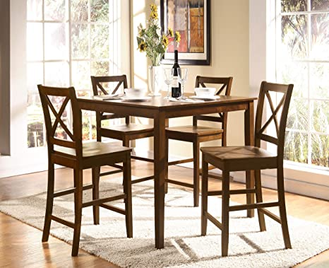 Enjoyable Acme 0 5 Piece Martha Counter Height Dining Set Espresso Finish Gmtry Best Dining Table And Chair Ideas Images Gmtryco