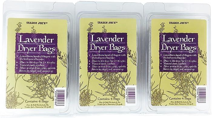 Trader Joes Lavender Dryer Bags (Pack of 3)