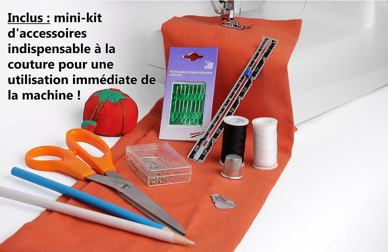 Singer Initiale Machine /à Coudre 18 Points Ajustables Mega Box dAccessoires pour Couture