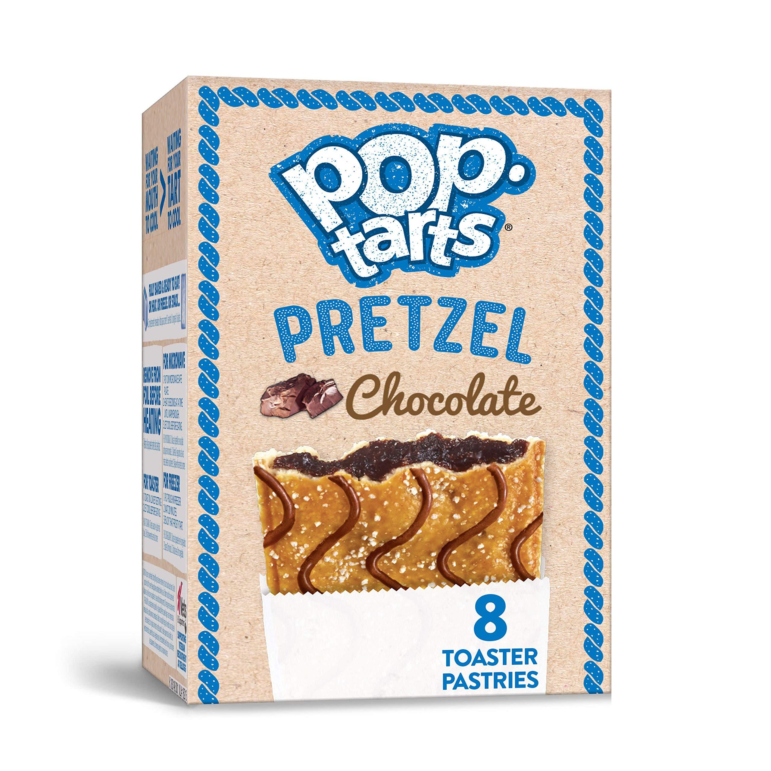 Pop-Tarts Pretzel, Breakfast Toaster Pastries, Chocolate, 13.5oz Box (8 Count)