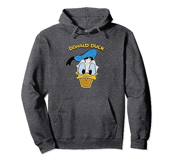 96040d044dd Unisex Disney Donald Duck Smile Hoodie 2XL Dark Heather
