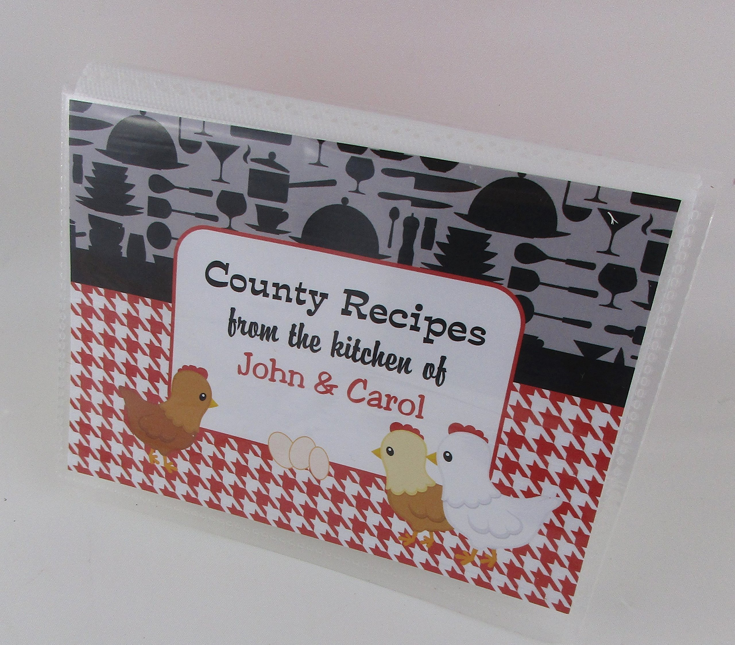 Recipe Card Book IA#591 4x6 or 5x7 Cards NOT INCLUDED, Empty Album Country Kitchen Chicken Egg