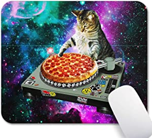 Mechanical Cattle Mouse Pad Cat Mousepad for Fids Star Boys Sausage Pizza Mouse Pad Realistic Food,Rectangle Non-Slip Rubber Mousepad Gaming Mouse Pads