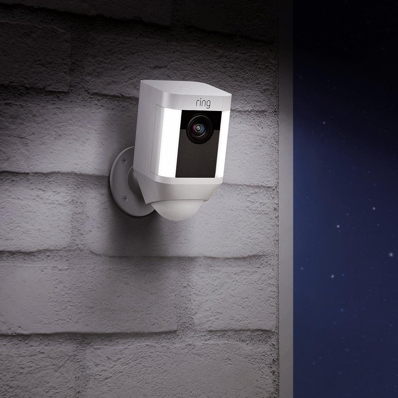 Ring Spotlight Cam con Batería - Cámara de seguridad 1080 HD con foco LED, comunicación bidireccional, alarma y conexión wi-fi, blanco: Amazon.es: Bricolaje ...