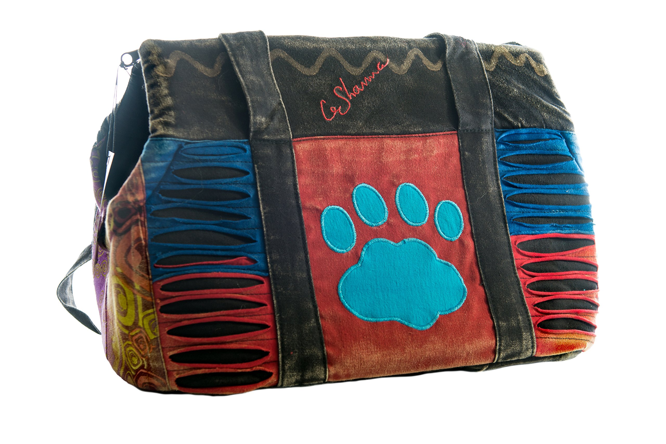 Le Sharma Cotton-Dog Carrier, Handmade with 100% Cotton, Stylish and Practical, Ideal for Small Dogs (LSFCC-03)