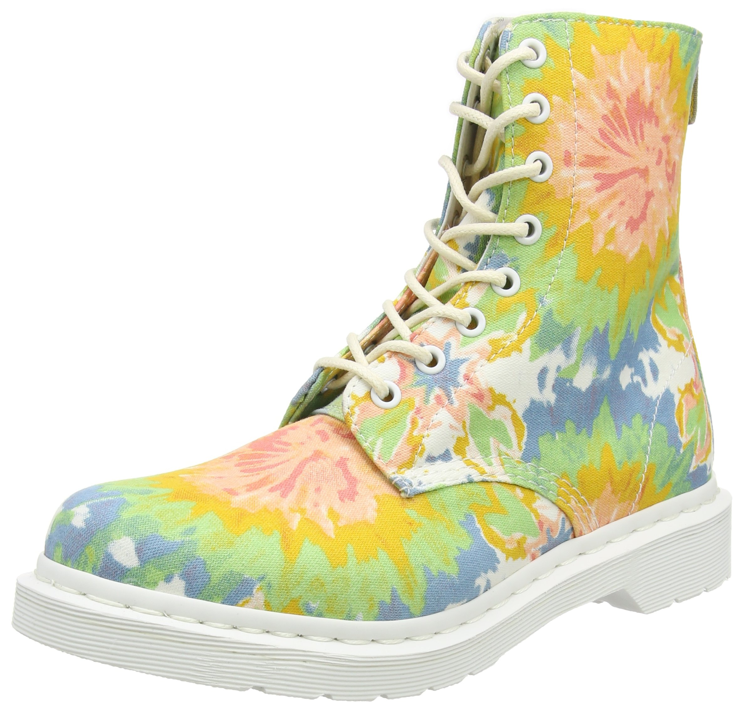Dr. Martens Women's Page 8 Eye Boot,Multi Mandala TD Fine Canvas,UK 6 M