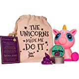 Magnetic Putty Unicorn Poop Stress Relief Kit - Funny Gift for Adults and Kids | Magnetic Unicorn Poop with Magnet | Cute Jumbo Pink Unicorn Squishy Slow Rising | Silly Hand Therapy Office Desk Toy