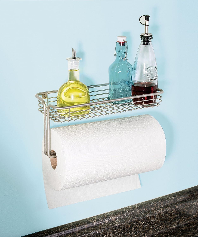 Amazon.com: InterDesign Classico Paper Towel Holder with Shelf for ...
