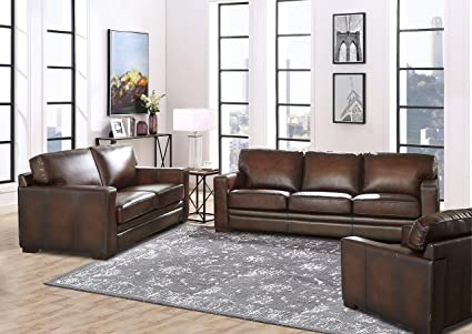 Cool Hydeline Dillon 100 Leather Sofa Set Sofa Loveseat Chair Brown Caraccident5 Cool Chair Designs And Ideas Caraccident5Info