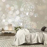 Fotobehang bloemen paardenbloem 366 x 254 cm inclusief lijm plant muur decoratie slaapkamer behang