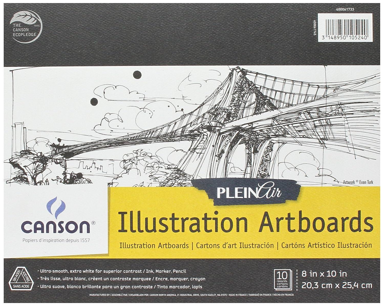 8 x 10 CANSON Plein Air Art Board Pad Illustration