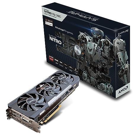 Sapphire Nitro R9 390 8G D5 Radeon R9 390 8GB GDDR5 - Tarjeta gráfica (Radeon R9 390, 8 GB, GDDR5, 512 bit, 4096 x 2160 Pixeles, PCI Express 3.0)