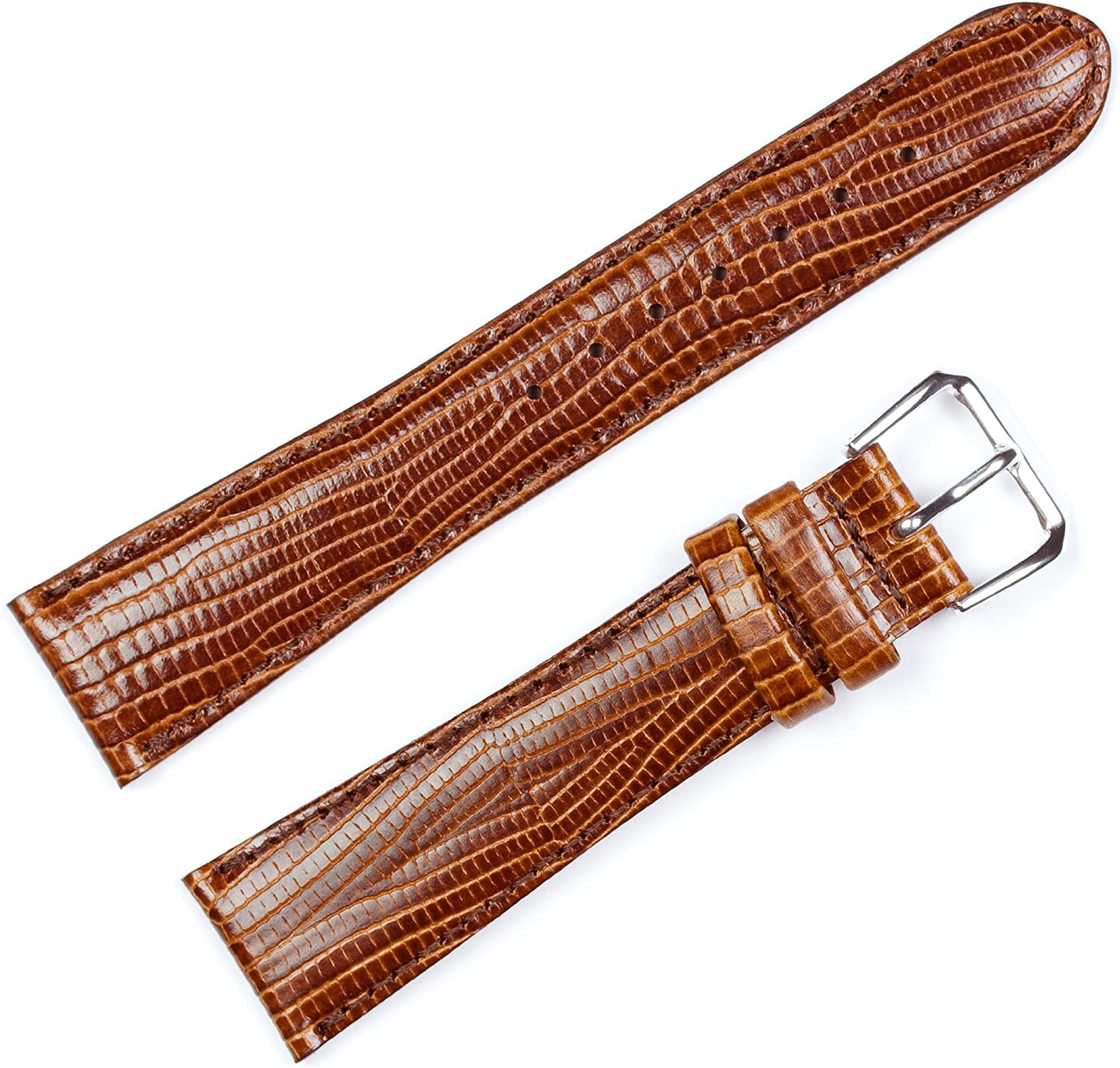Snake Grain Watch Band Havana 20mm Watch Band - by deBeer