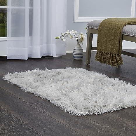 Home Dynamix Elle Decor Arctic Sheepskin Faux Fur Shag Accent Area Rug 236quotx35