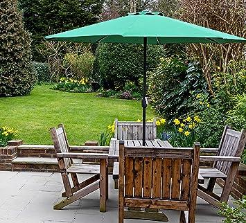 GlamHaus - Sombrilla de jardín para Exteriores (2, 7 m, Jardines y ...