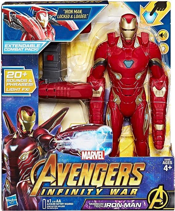Hasbro Marvel Avengers – Infinity War Iron Man Mission Tech Titan Hero con Accesorio, diseño, Action Figure, e0560103: Amazon.es: Juguetes y juegos