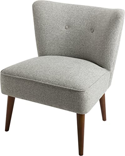 Spatial Order Kaufmann Modern Armless Accent Chair Button Tufting, Ash Grey