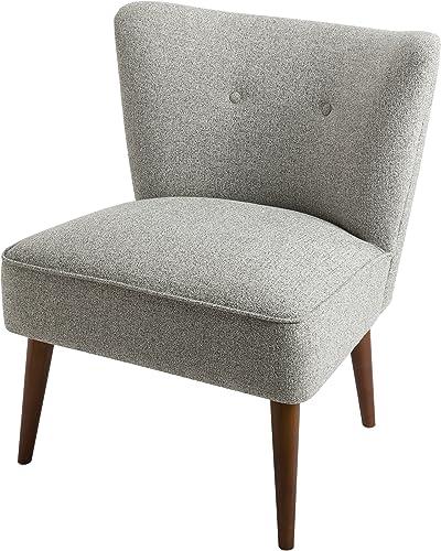 Spatial Order Kaufmann Modern Armless Accent Chair Button Tufting