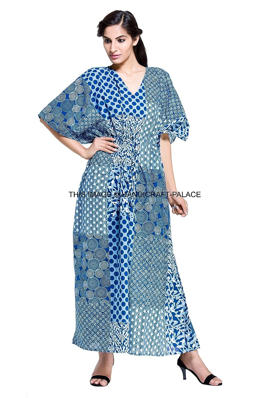 HANDICRAFT-PALACE Boho Long Indian Kaftan Plus Size Women Dress Caftan  Hippy Casual Beach Dress at Amazon Women s Clothing store  9dfabc893