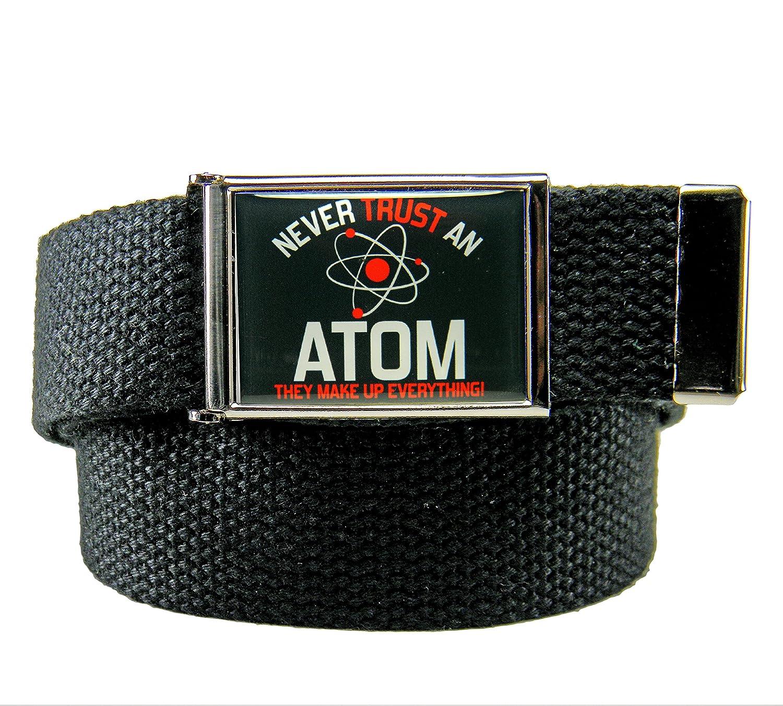Cali Weed Flip Top Mens Belt Buckle with Canvas Web Belt