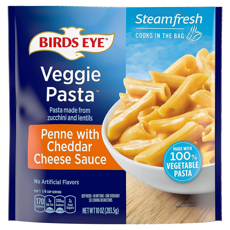 Birds Eye Steamfresh Veggie Made 100% Vegetable Pasta, Penne with Cheddar Cheese Sauce, 10 Ounce (Frozen)