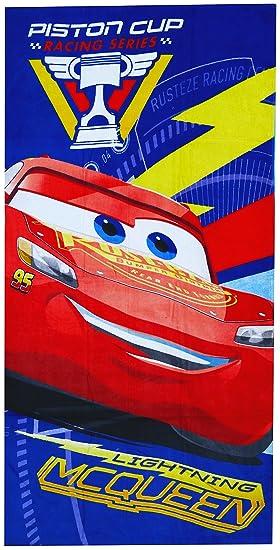 Disney Cars - Toalla de playa para niños, art. 0294, tamaño 70 x 140 cm: Amazon.es: Hogar