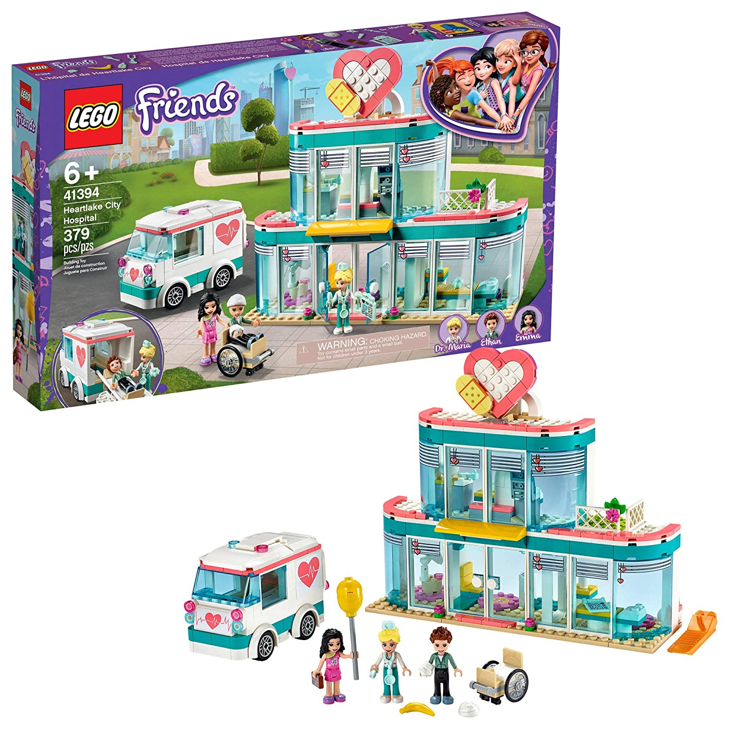 LEGO Friends Heartlake City Hospital 41394 Best Doctor Toy Building Kit, Featuring Friends Character Emma, New 2020 (379 Pieces)