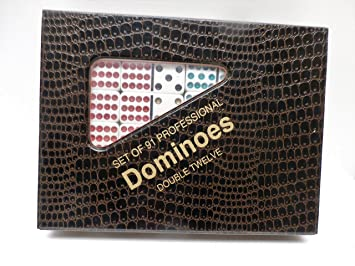 Double 12 Color Dot Dominoes