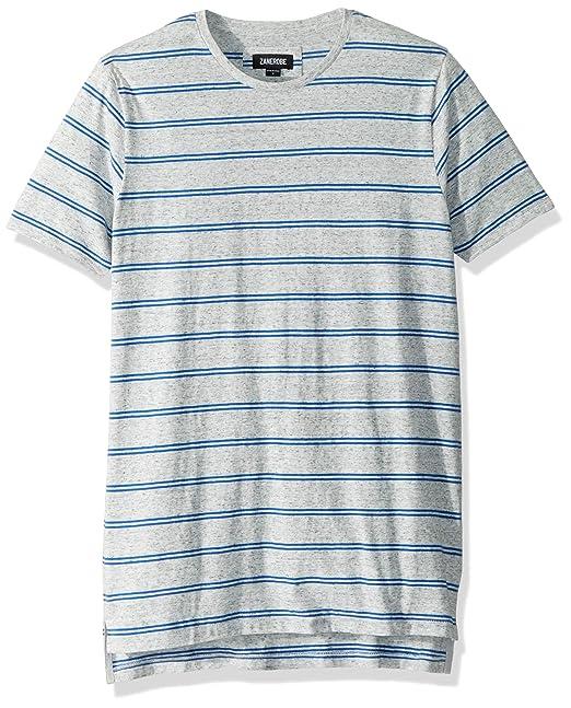 ZANEROBE Mens Elongated Split Side Brand Flintlock Short Sleeve Tee Shirt