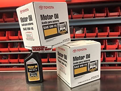 Toyota Genuine SAE 0W-16 Synthetic Motor Oil Pack of 6 (6 x 1 US QUART)