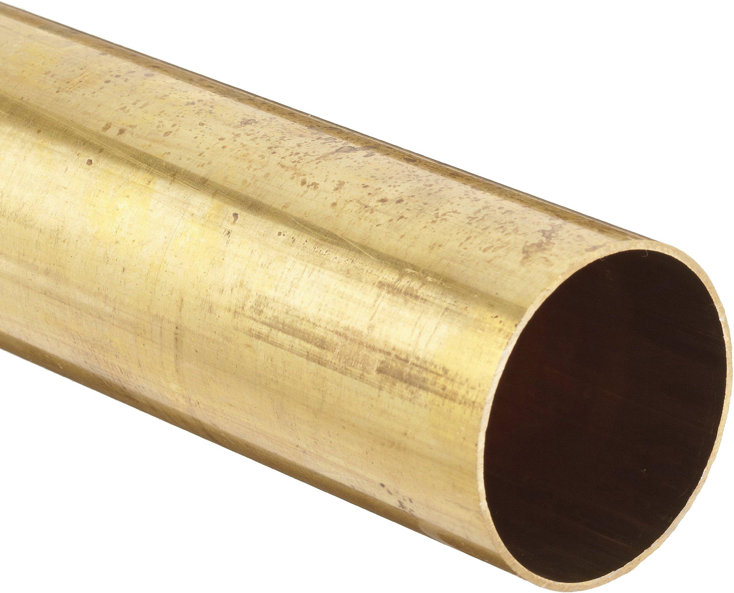 Brass 330 Round Tubing, 4'' OD, 3.87'' ID, 0.065'' Wall, 36'' Length
