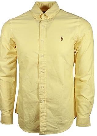 Yellow Dress Casual Men's Shirt