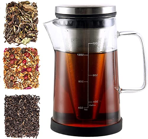 Hot Brew Coffee Maker Tea Infuser Pitcher