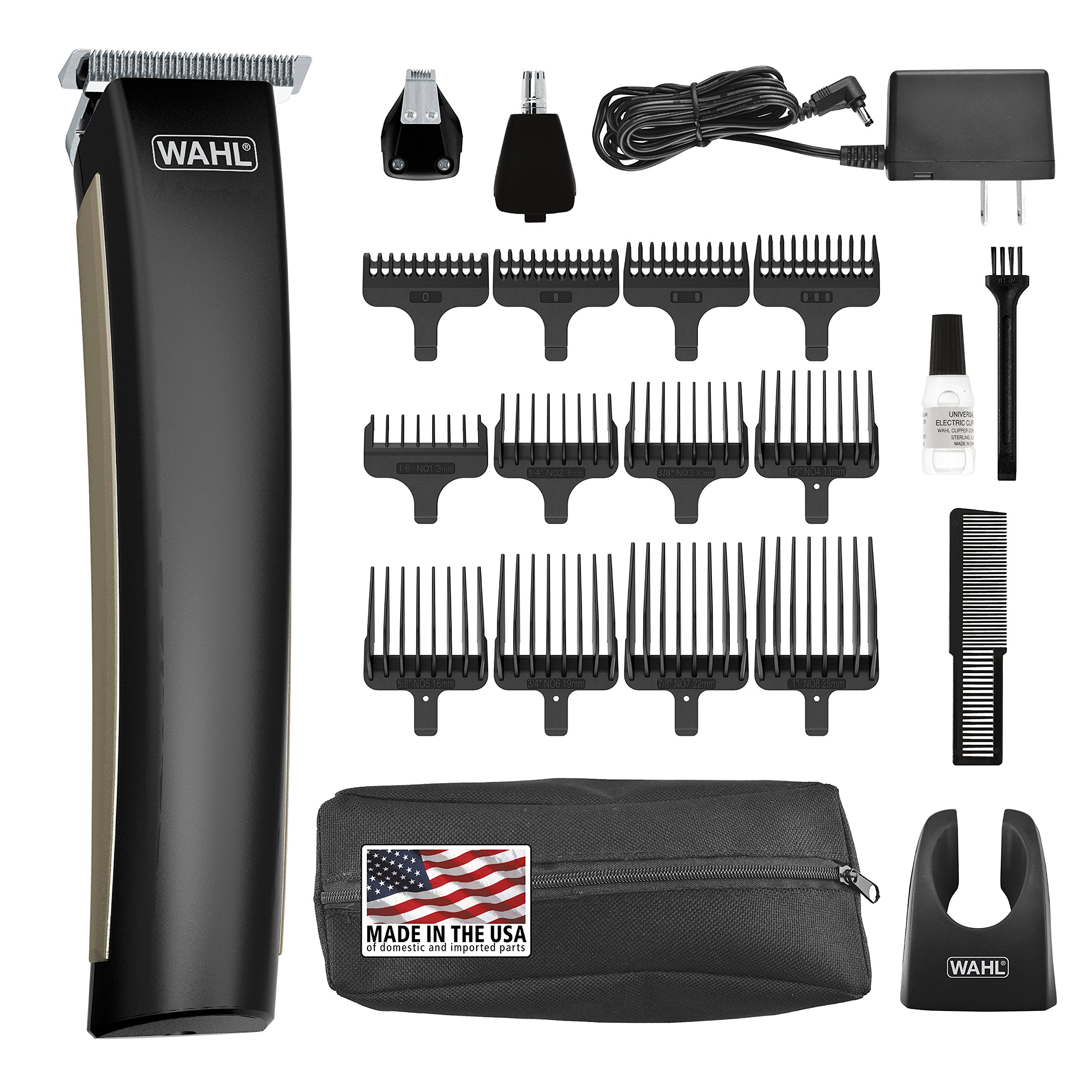Wahl Clipper Lithium Ion 2.0 Beard Trimmer, rechargeable all in one trimmer for beard, mustache, stubble, ear, nose, body grooming, holiday Gift for men, by the Brand used by Professionals #9886 by Wahl