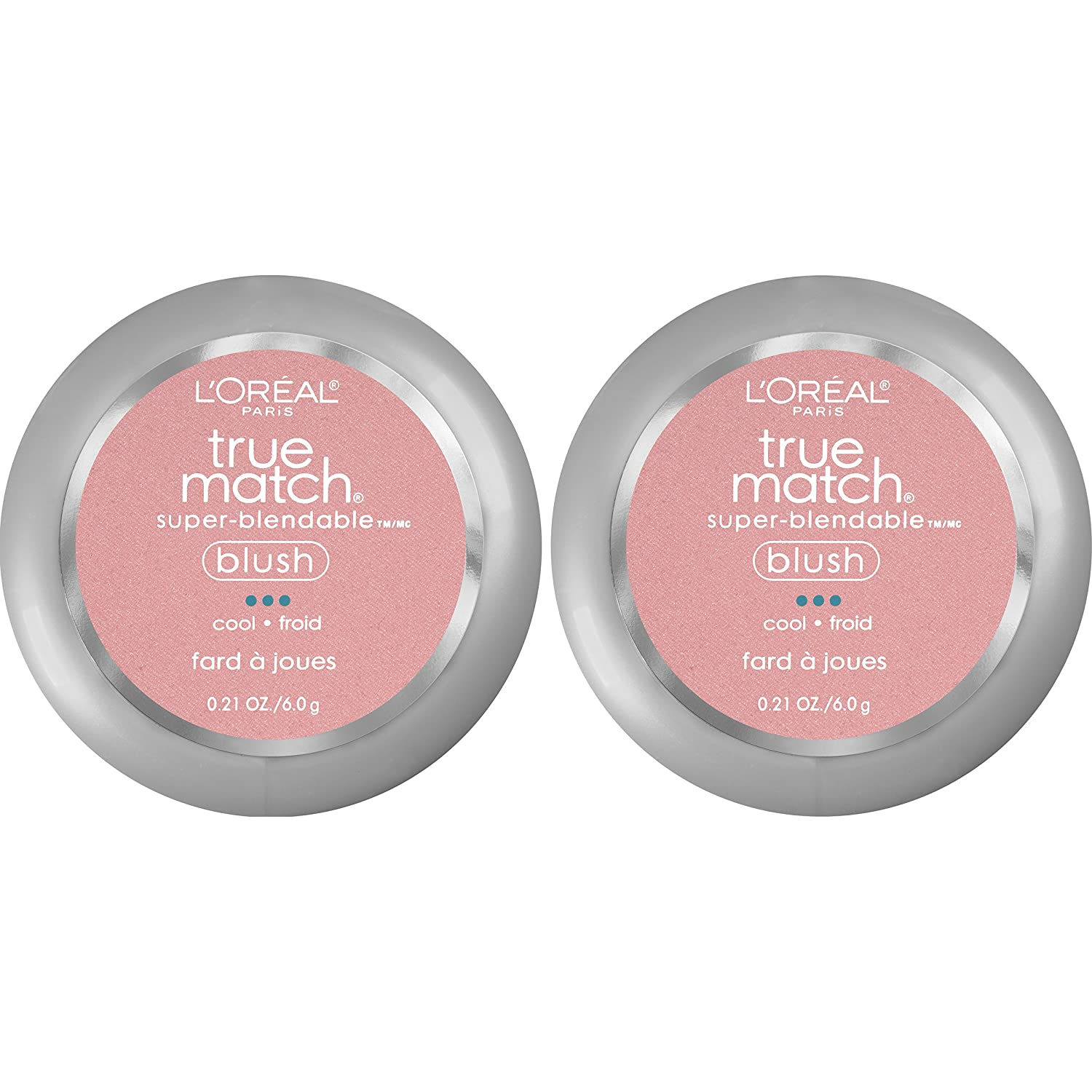 L'Oreal Paris Cosmetics True Match Super-Blendable Blush, Tender Rose, 2 Count